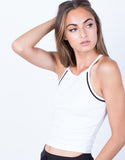 Detail of Sporty Racerback Cropped Tank