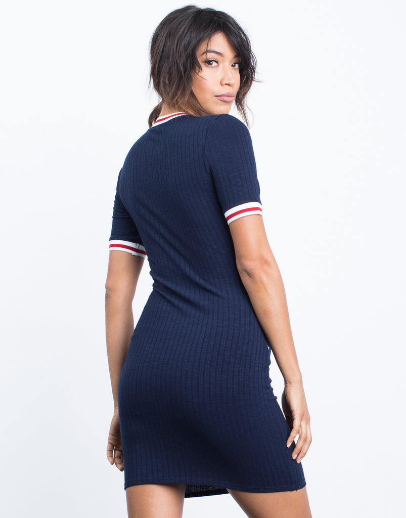 Sporty Striped Tee Dress - 2020AVE