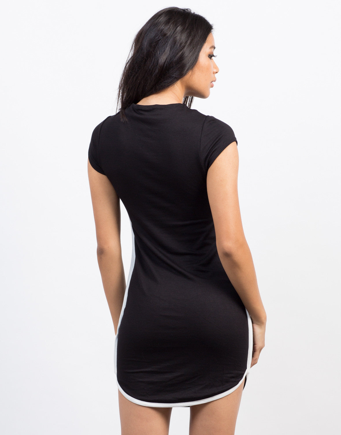 Back View of Sporty T-Shirt Dress