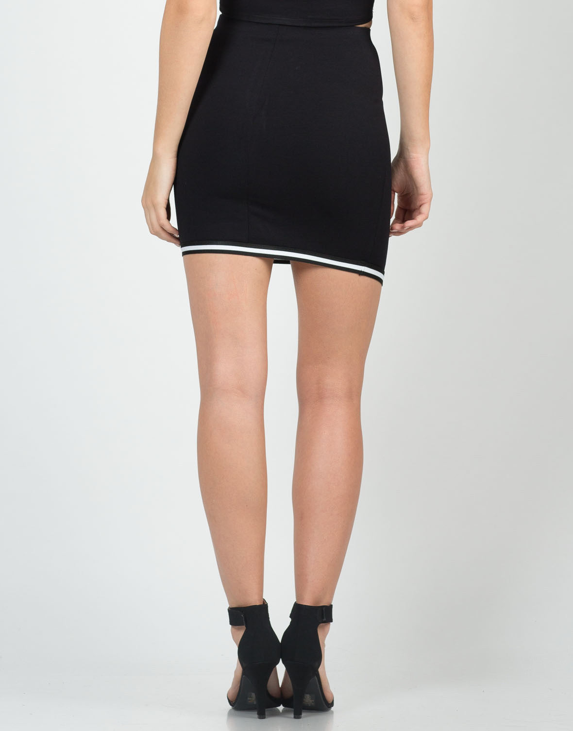 Back View of Sporty Asymmetrical Skirt
