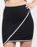 Detail of Sporty Asymmetrical Skirt