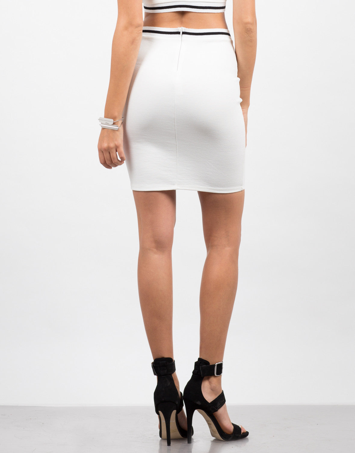 Back View of Sporty Bodycon Skirt
