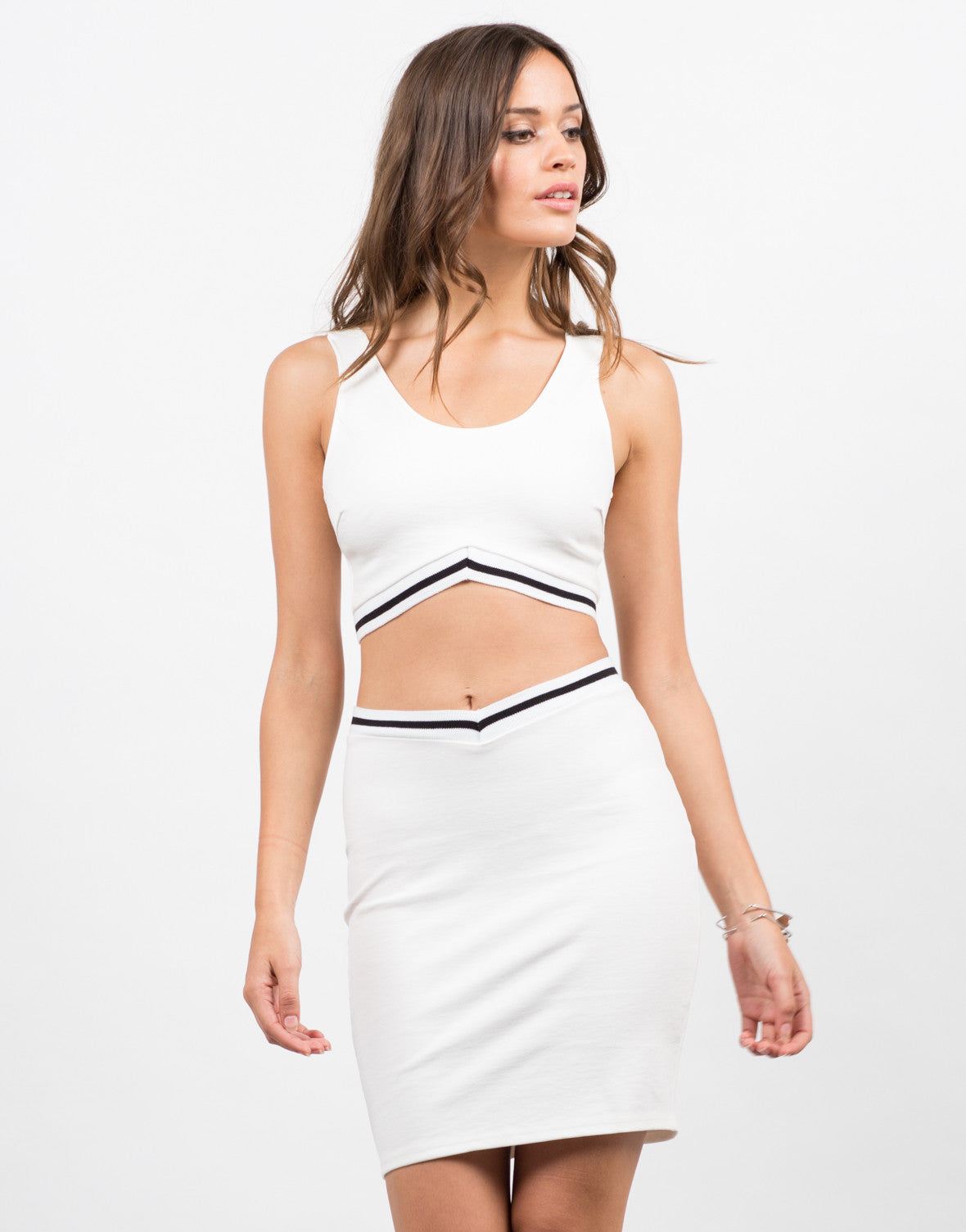 Front View of Sporty Bodycon Skirt