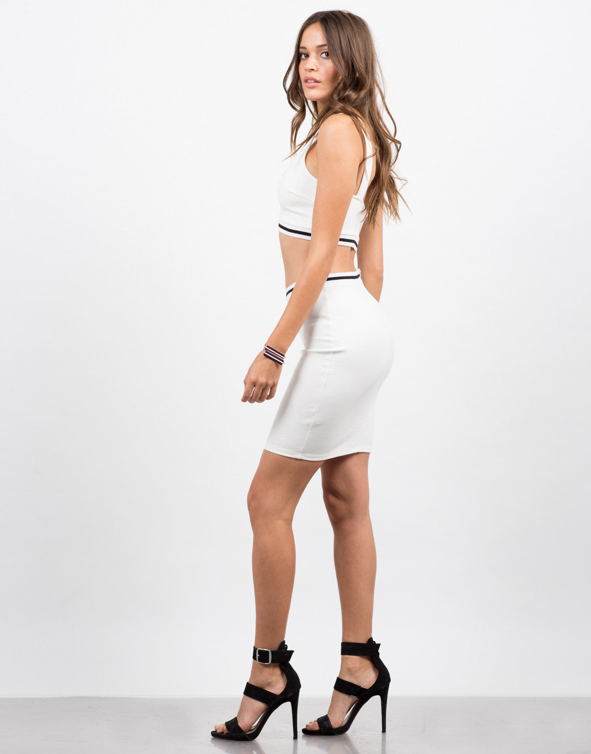 Side View of Sporty Bodycon Skirt
