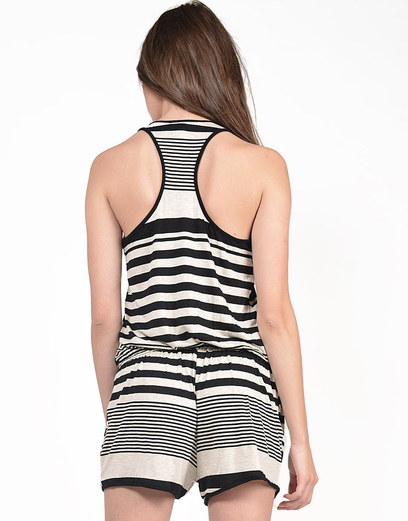 Sporty Striped Romper - 2020AVE