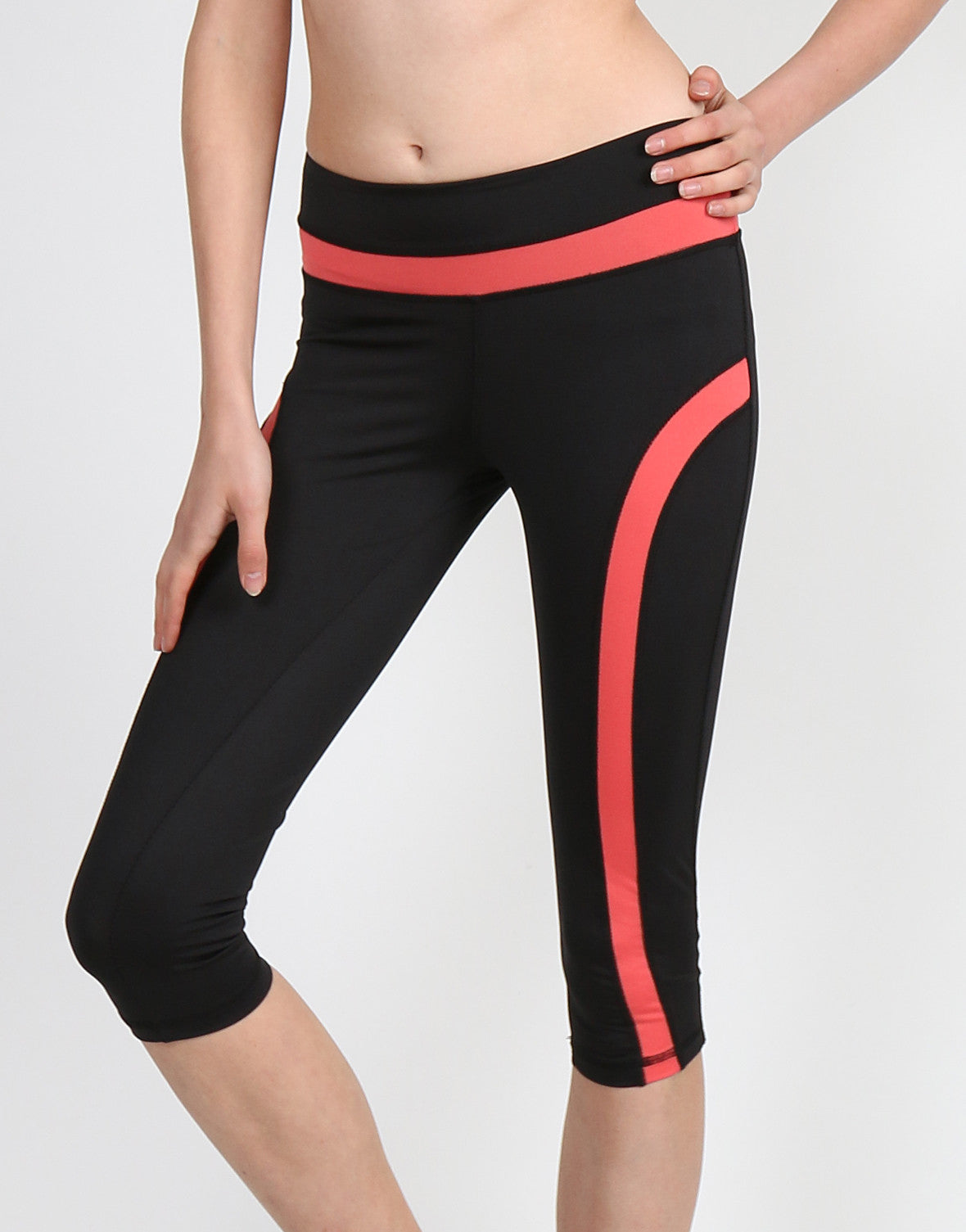 Sporty Track Stripe Capri Pants