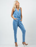 Front View of Sporty Vintage Jumpsuit