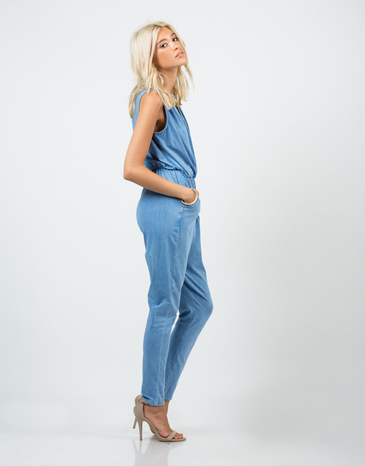 Side View of Sporty Vintage Jumpsuit