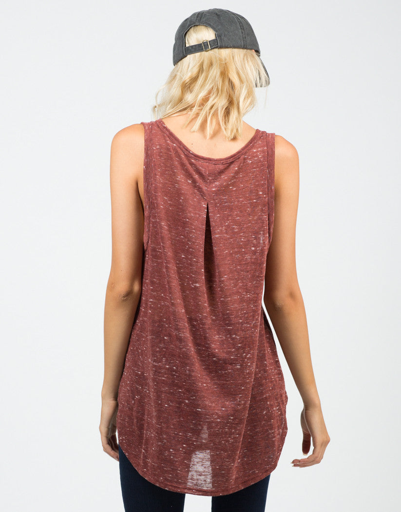 Back View of Spotted Knit Top