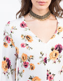 Detail of Spring Floral Romper