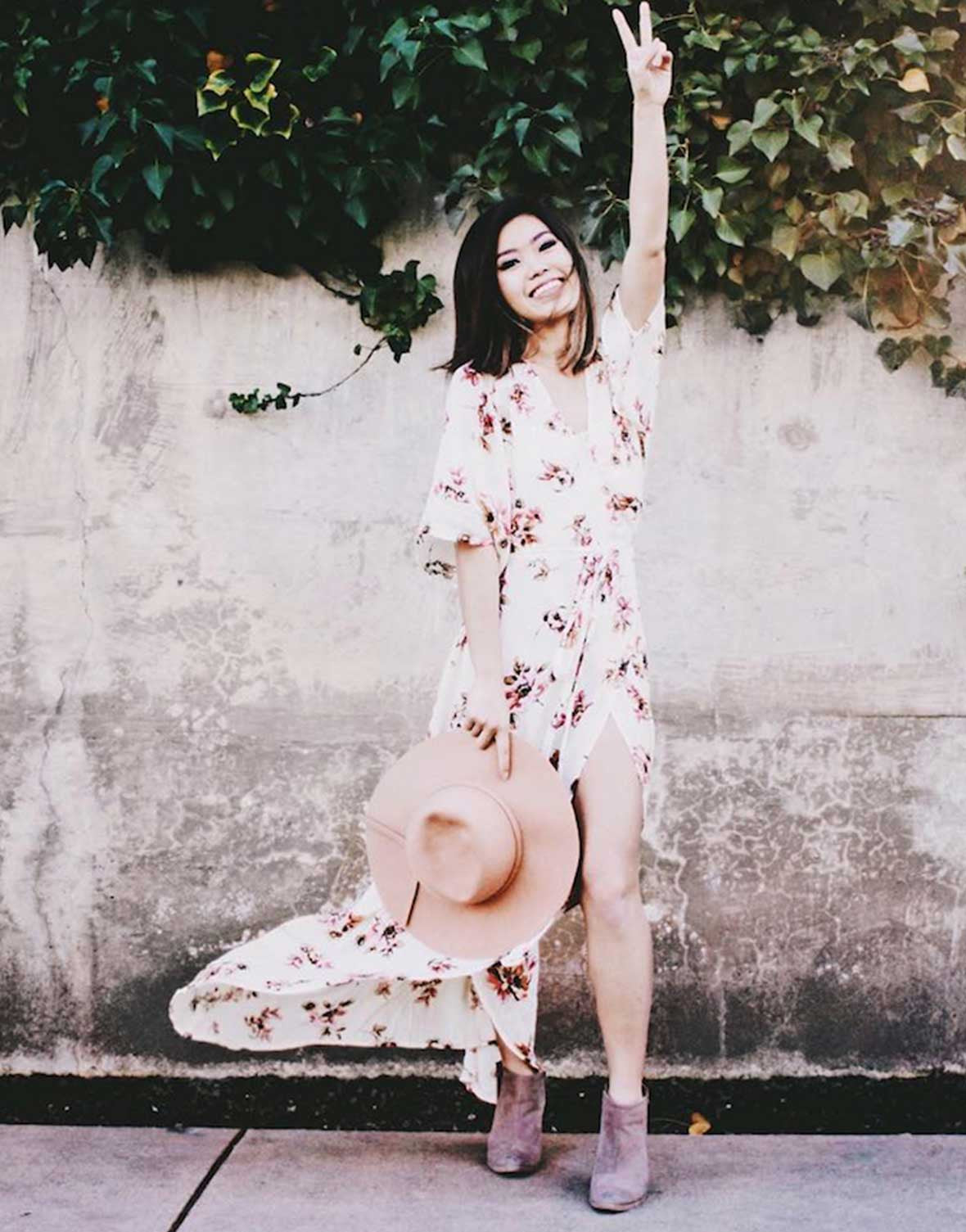 Spring Floral Wrap Dress - Blogger Vanessa Meow