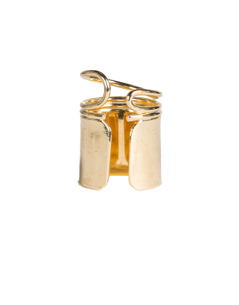 Spring Gold Cuff Ring - 2020AVE