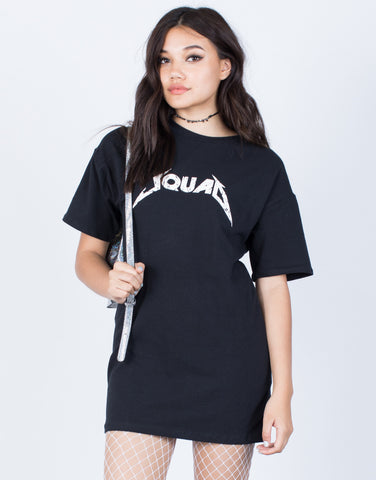 Front View of Squad Goals Tee Dress