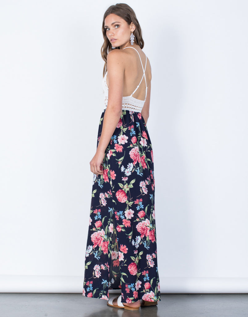 Back View of Stacy Floral Dress