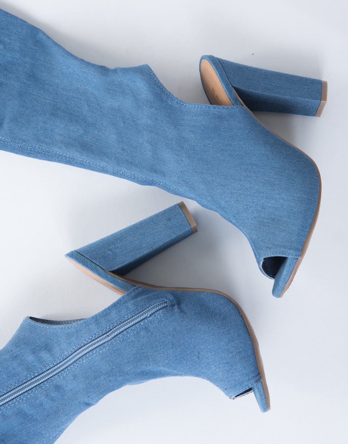 Stand Tall Denim Boots