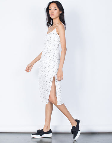 White Star Gazing Slip Dress - Side View