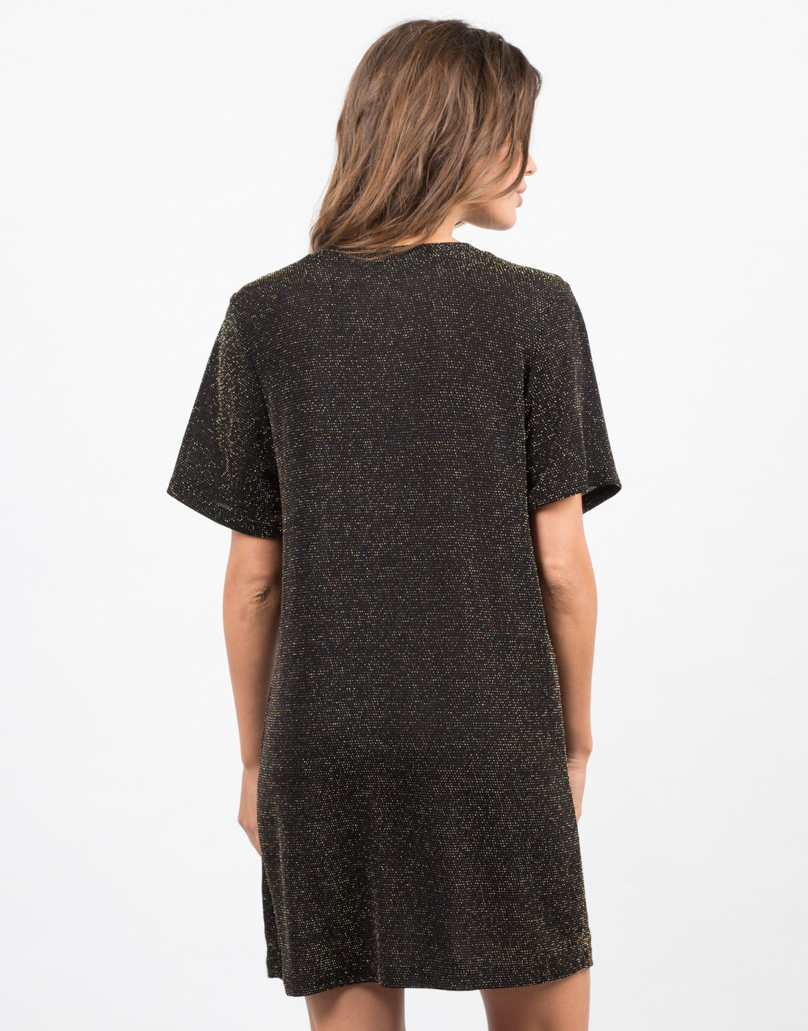 Back View of Starry Night T-Shirt Dress