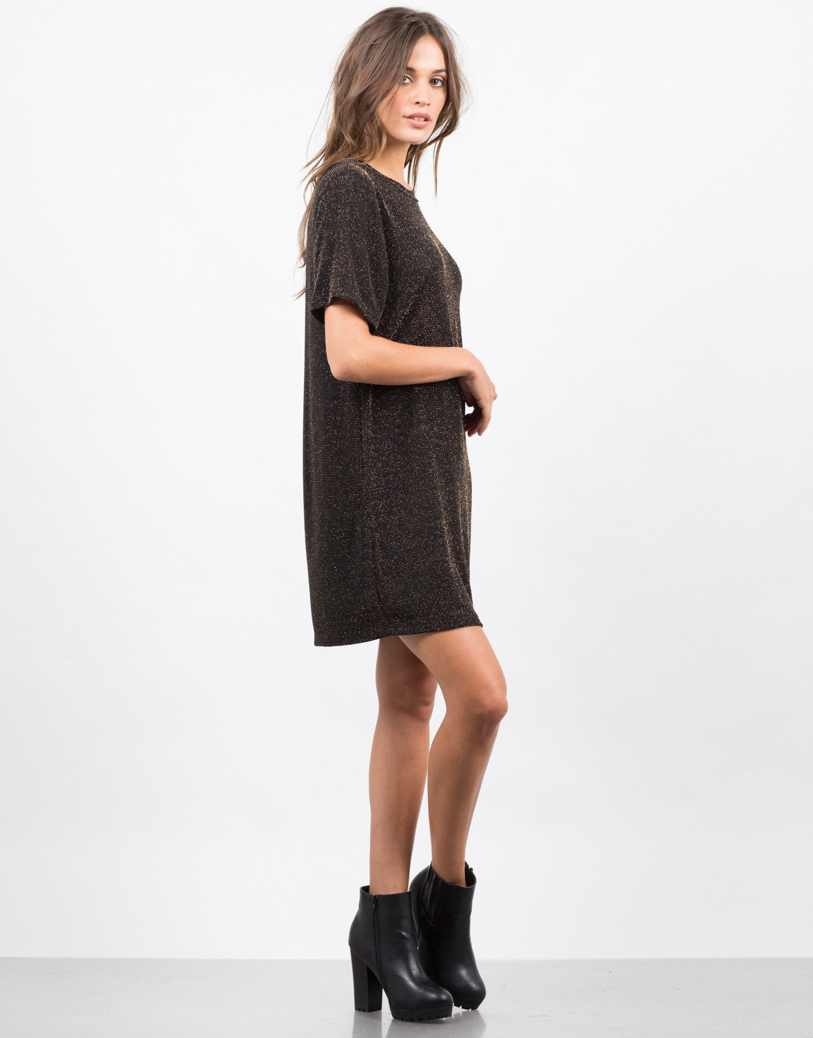 Side View of Starry Night T-Shirt Dress