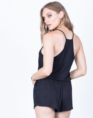 Back View of Stay Comfy Knit Romper