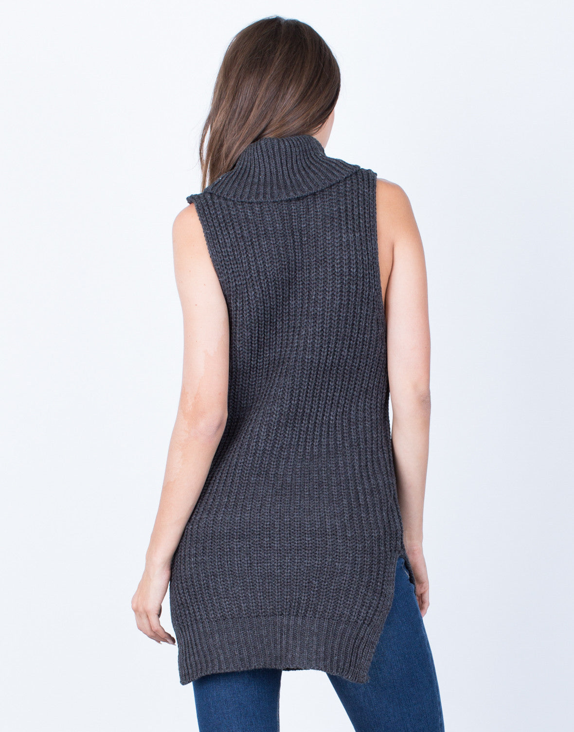 Back View of Stay Comfy Turtleneck Tunic