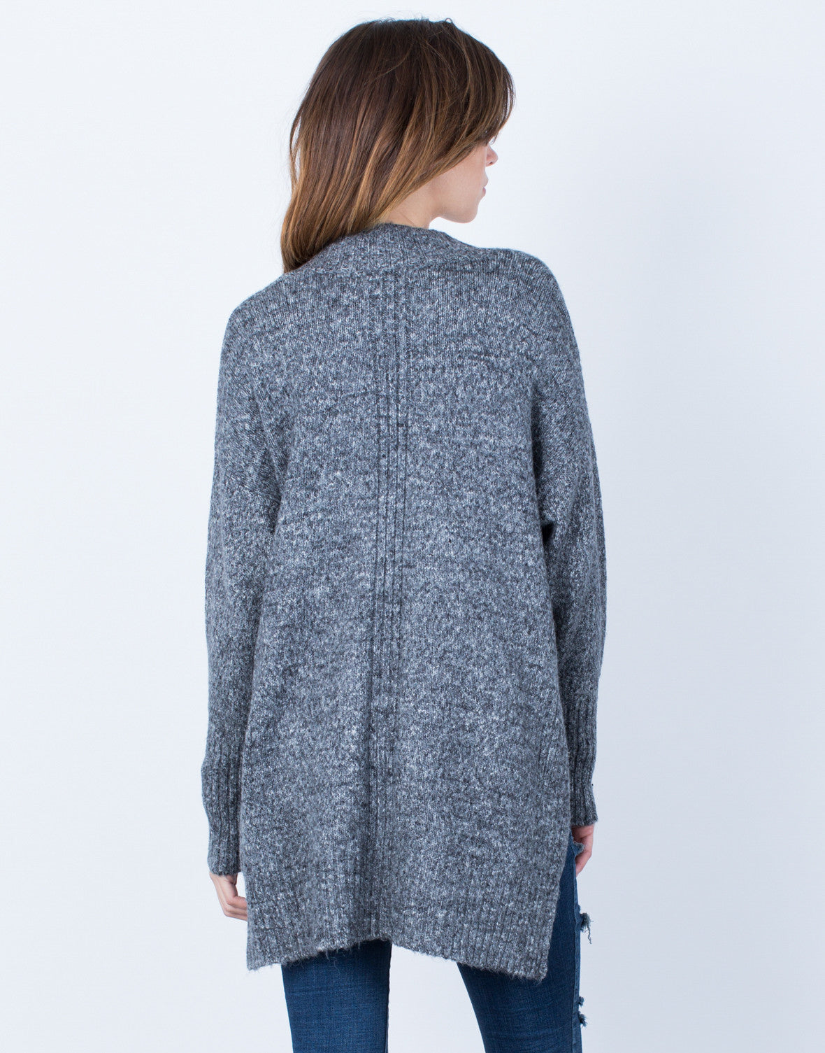Back View of Stay Cozy Cardigan