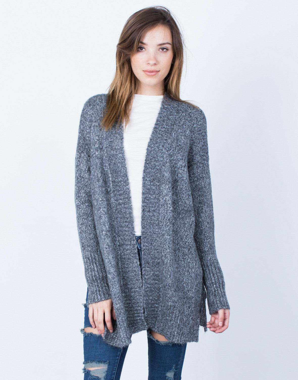 Front View of Stay Cozy Cardigan