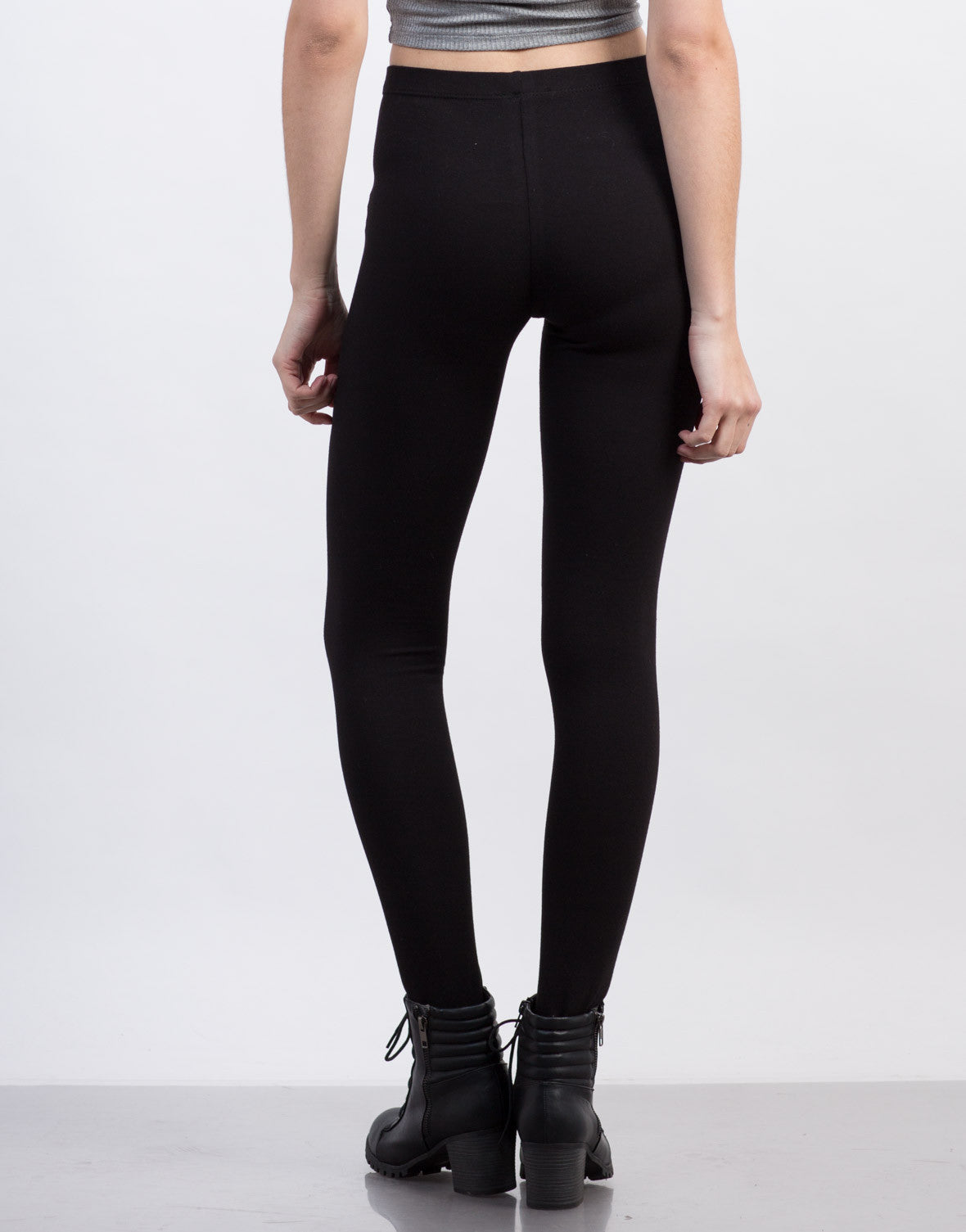 Back View of Stirrup Leggings