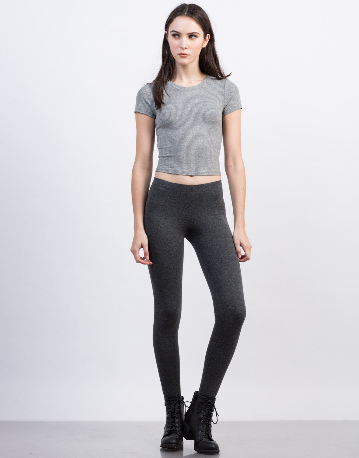 Front View of Stirrup Leggings