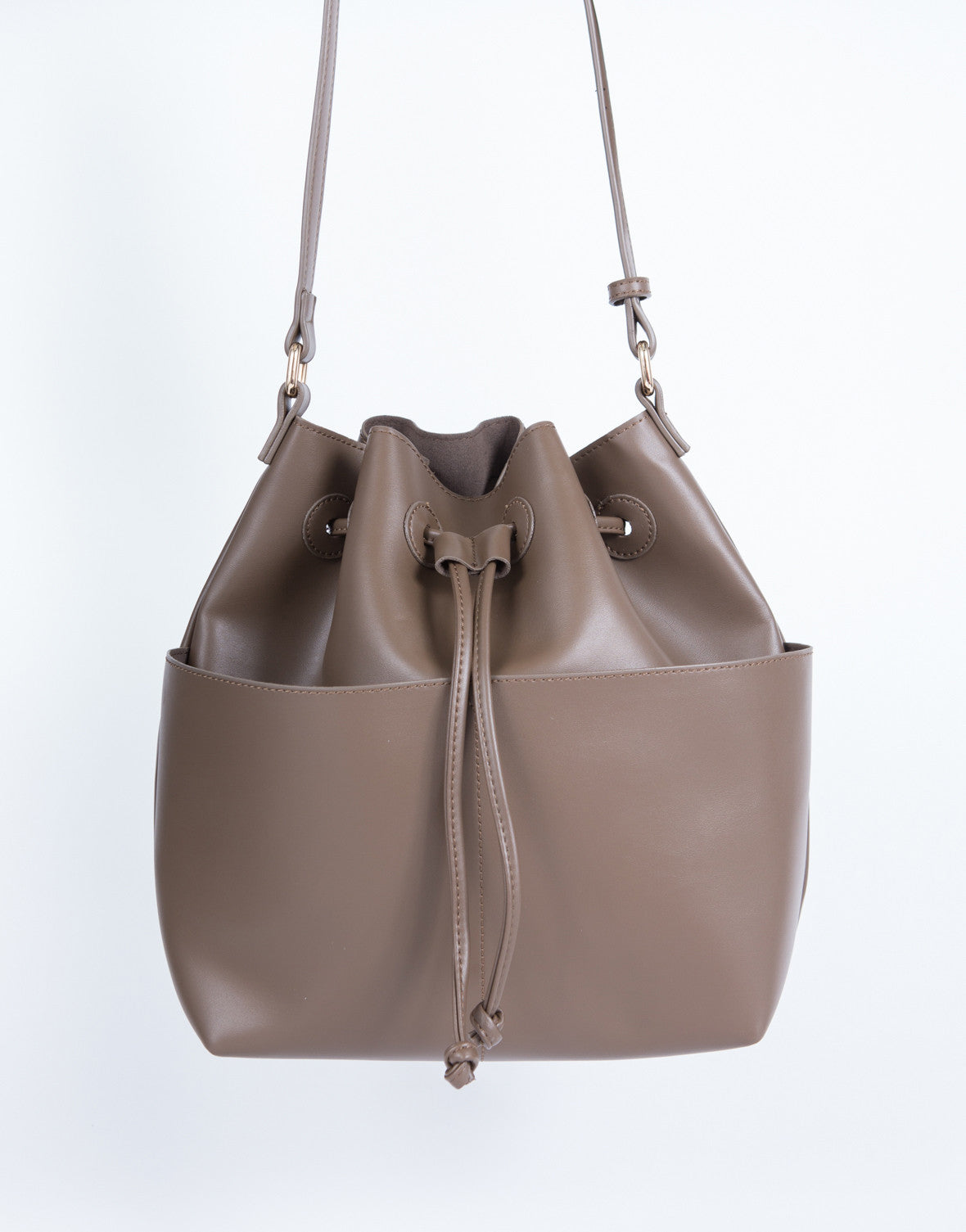 Stitched Leather Tote Bag