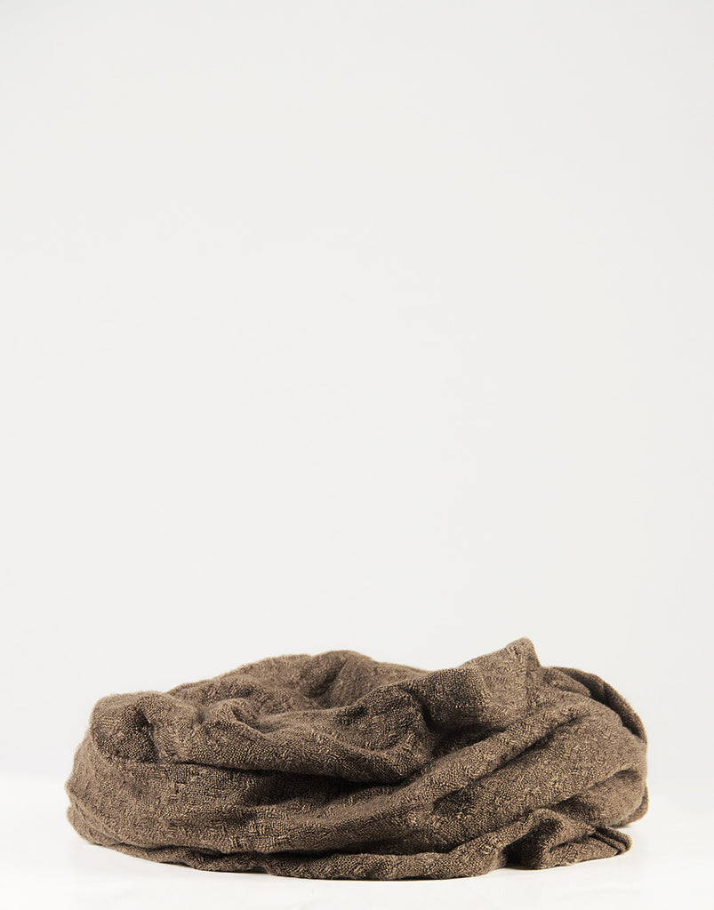 Stitched Squares Infinity Scarf - Taupe - 2020AVE