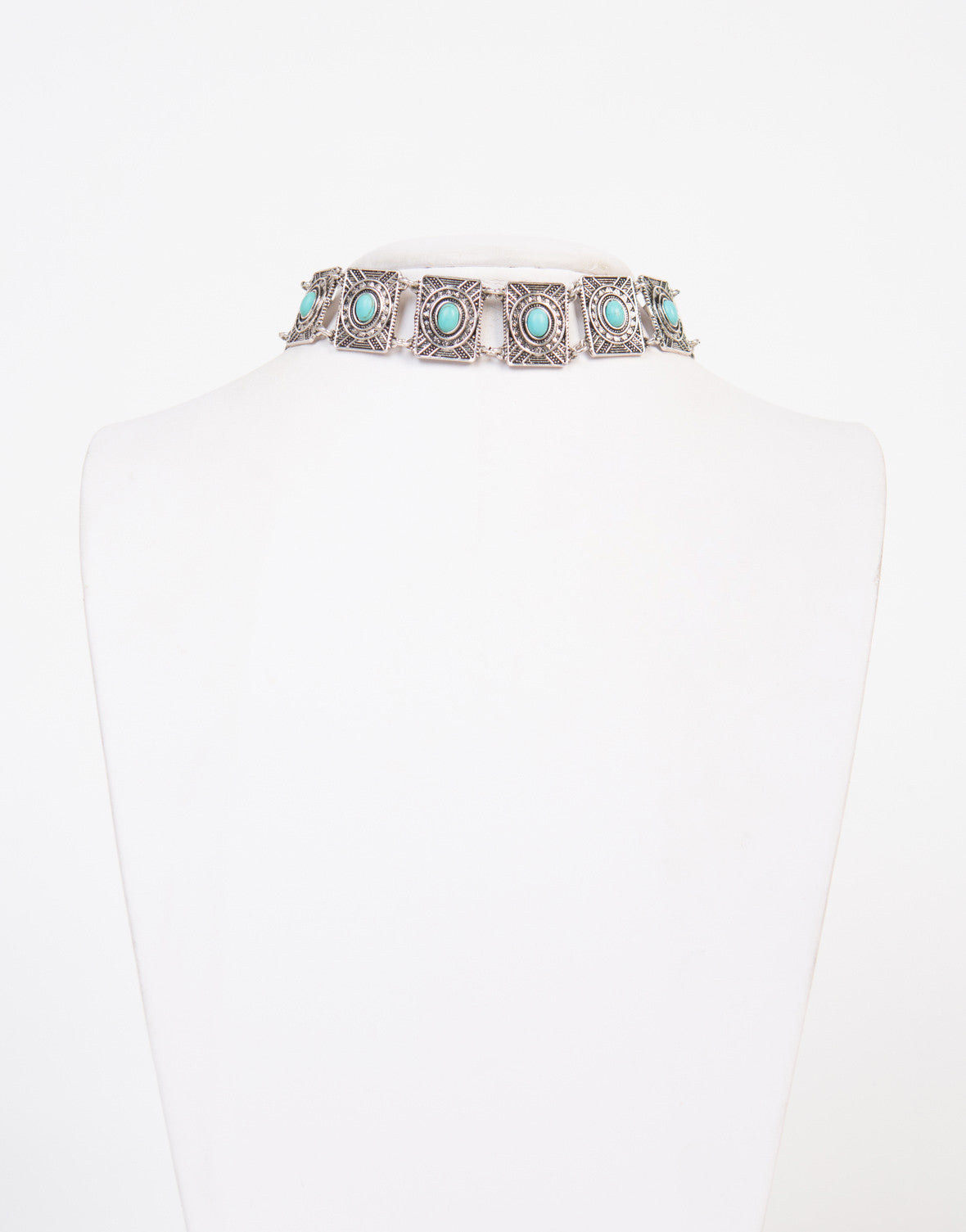 Stone Centered Choker Necklace