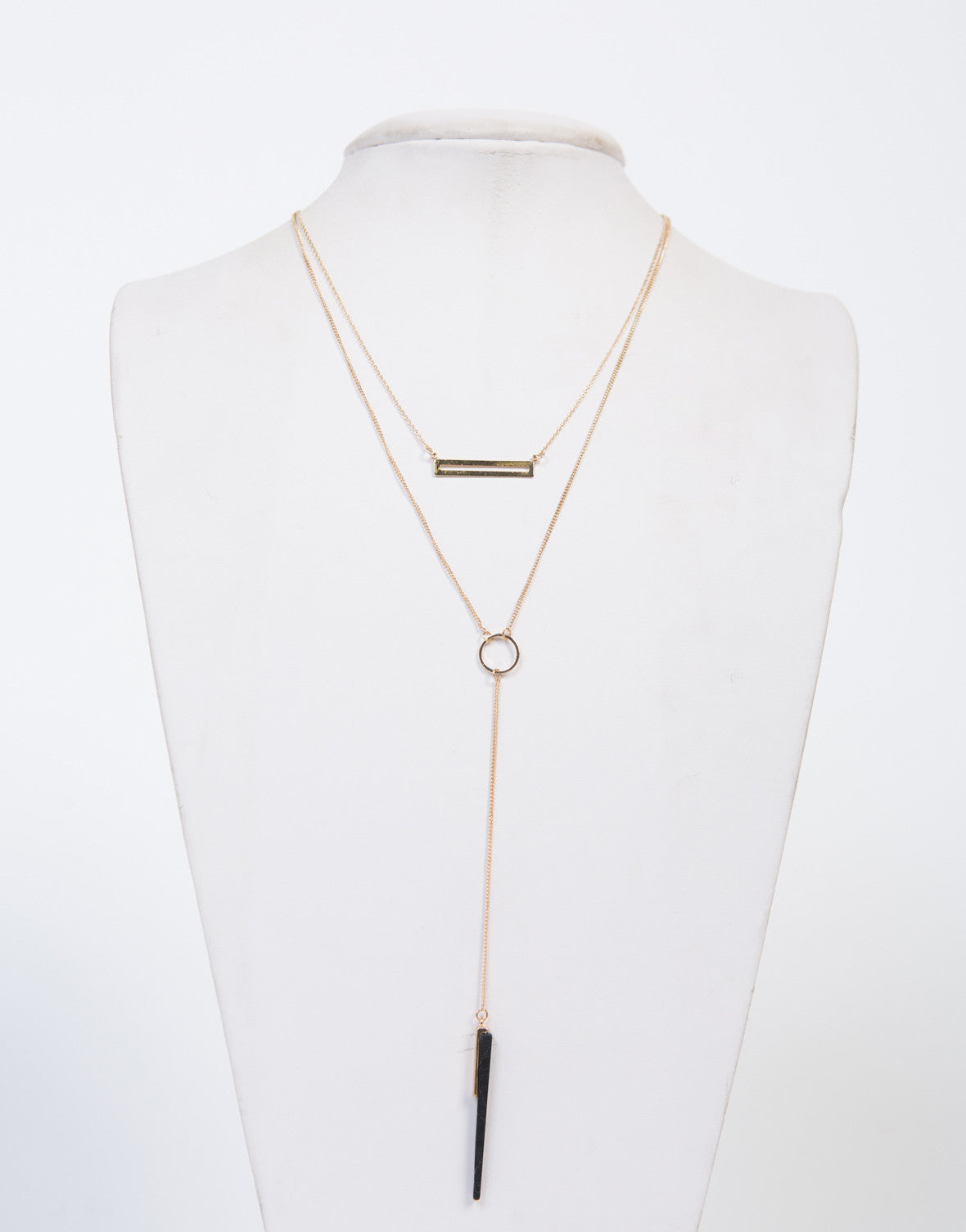 Stone Layered Dainty Necklace