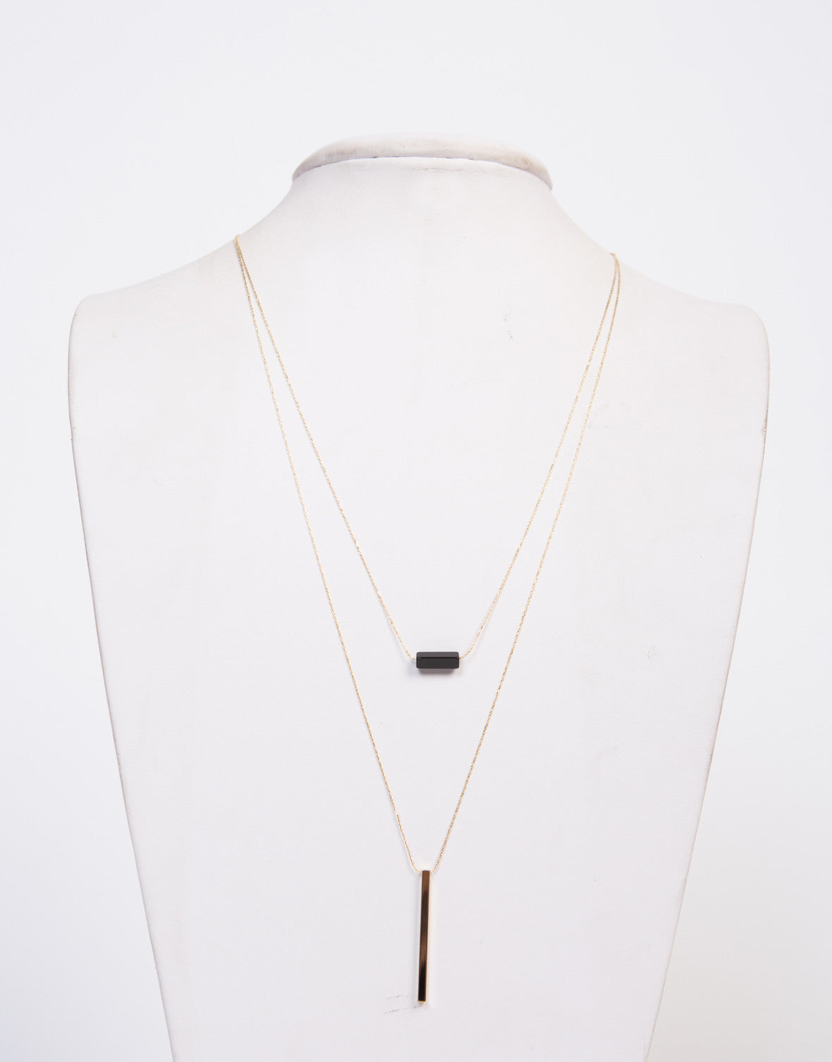 Stoned Bar Layered Necklace - 2020AVE