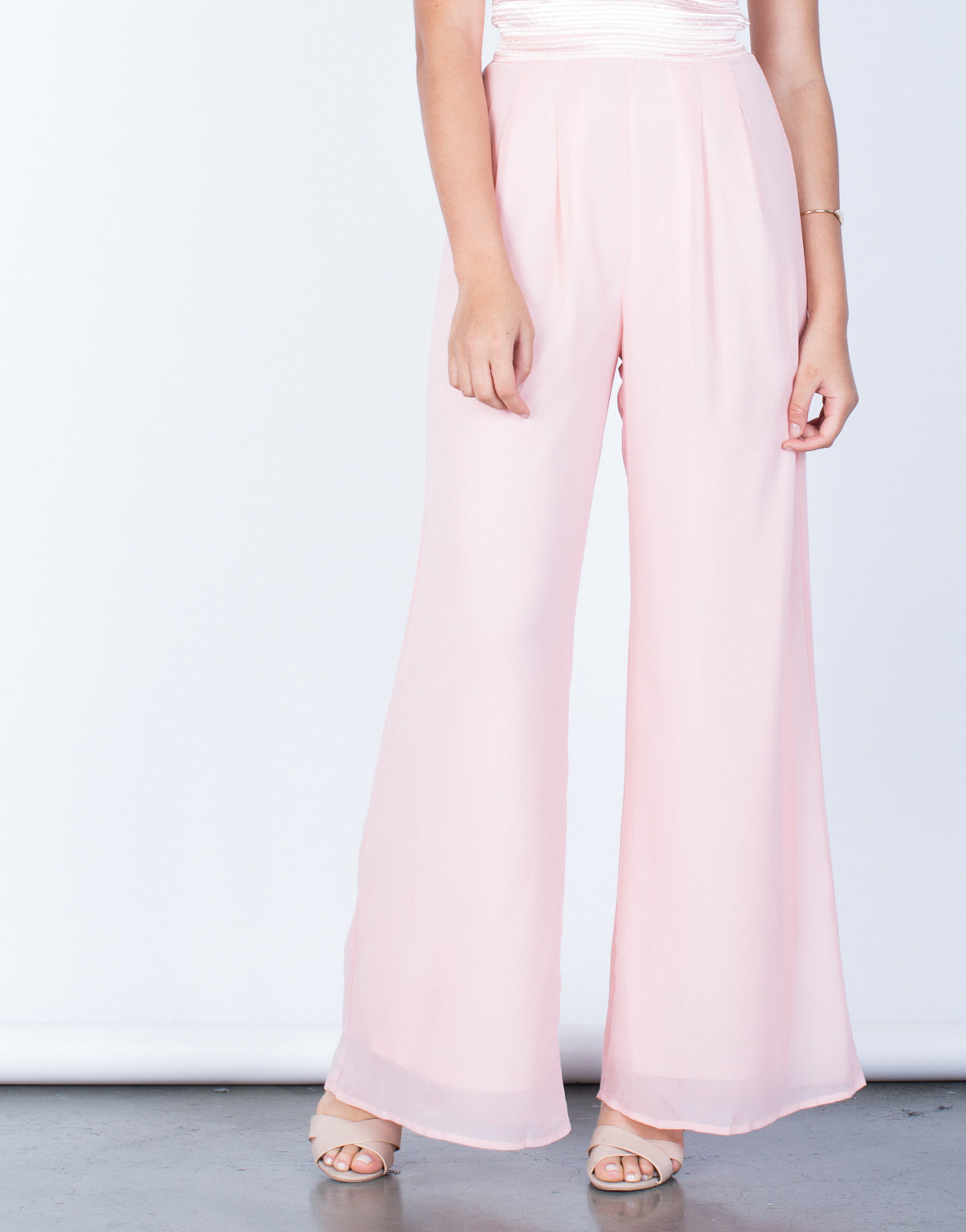 Detail of Strapless Chiffon Jumpsuit