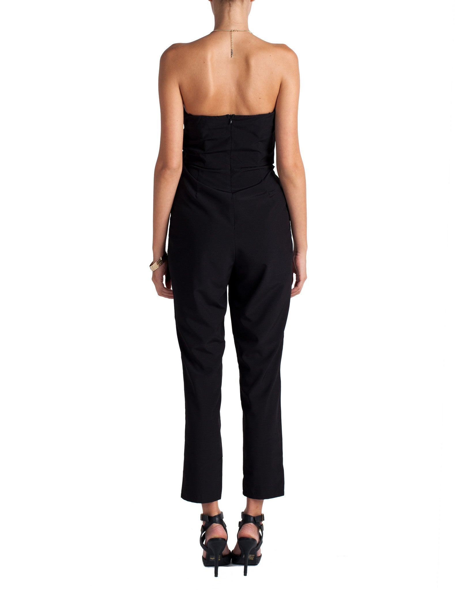 Strapless Side Tie Jumpsuit