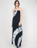 Strapless Tie Dye Maxi Dress - 2020AVE