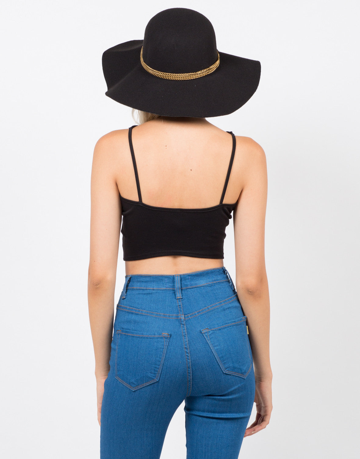 Back View of Strapped In Crop Top