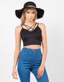 Front View of Strapped In Crop Top
