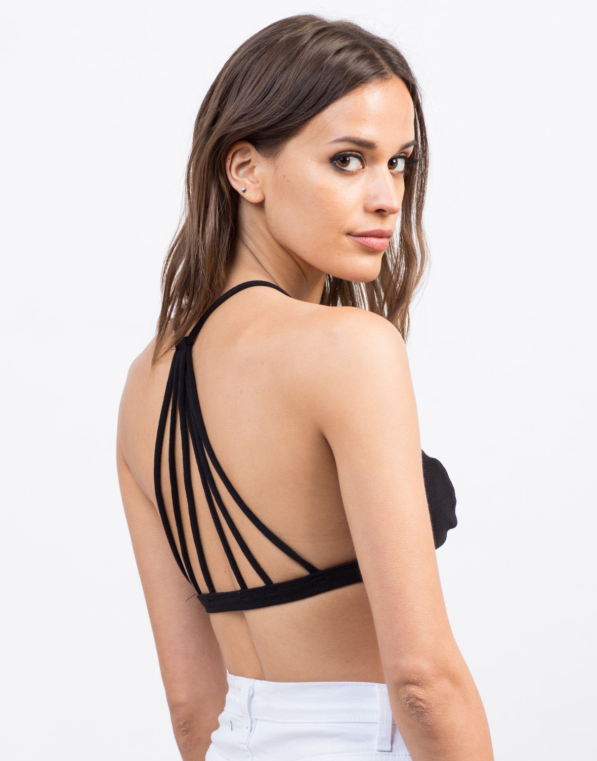 Back View of Strappy Back Bralette