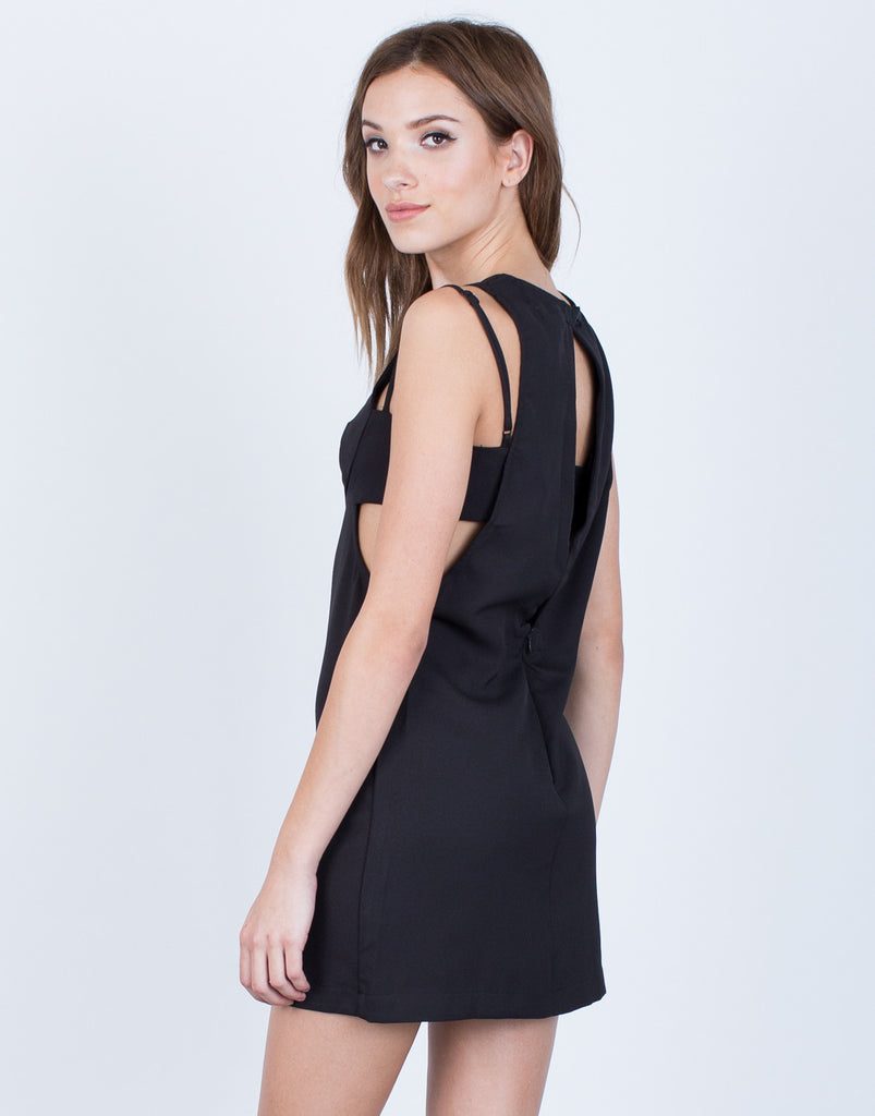 Back View of Strappy Classic Cut Out Dress