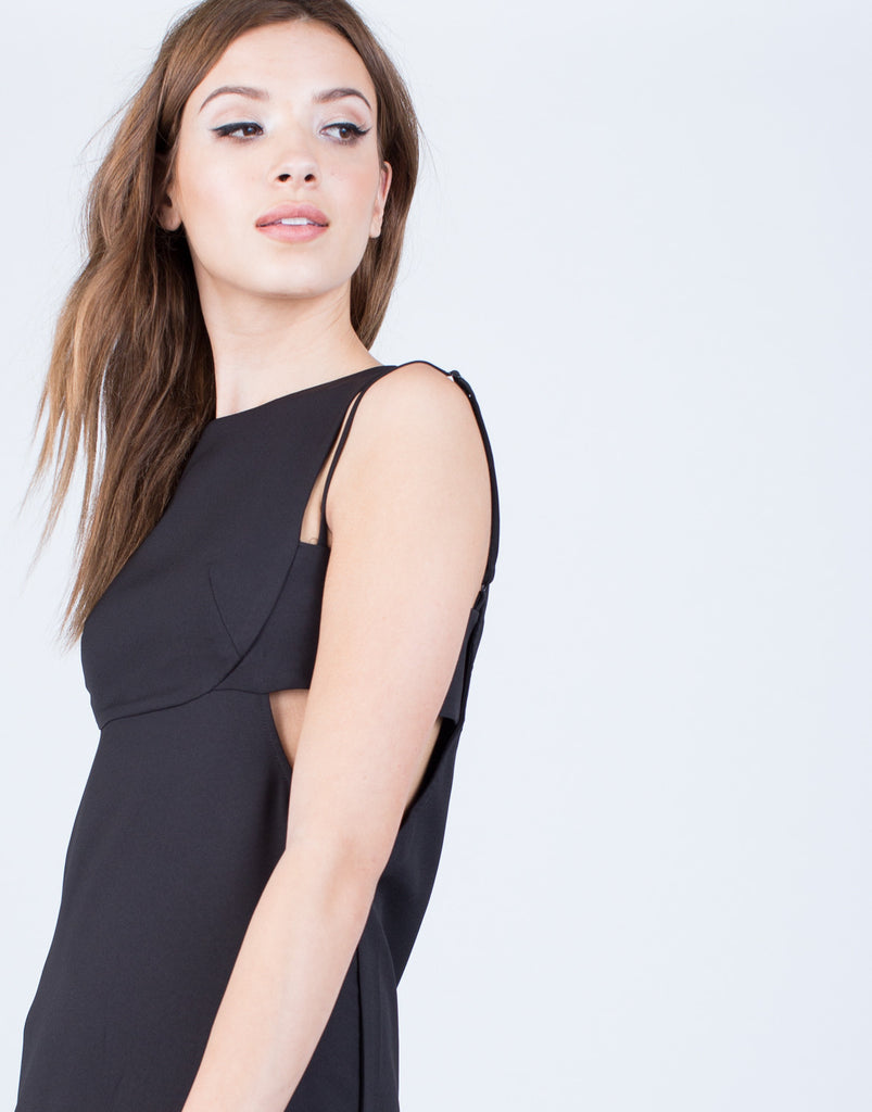 Detail of Strappy Classic Cut Out Dress