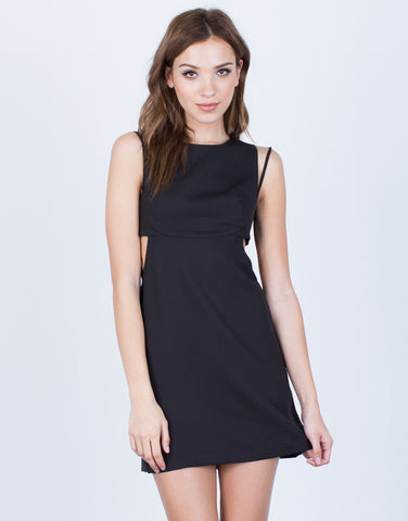 Front View of Strappy Classic Cut Out Dress