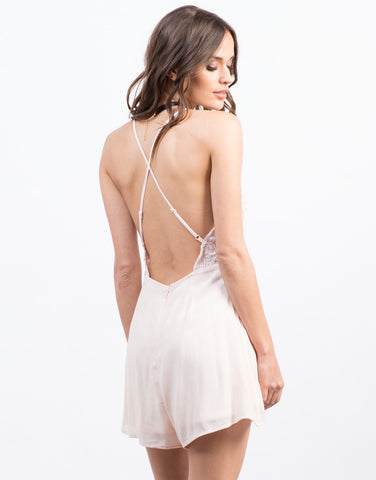 Back View of Strappy Crochet Romper