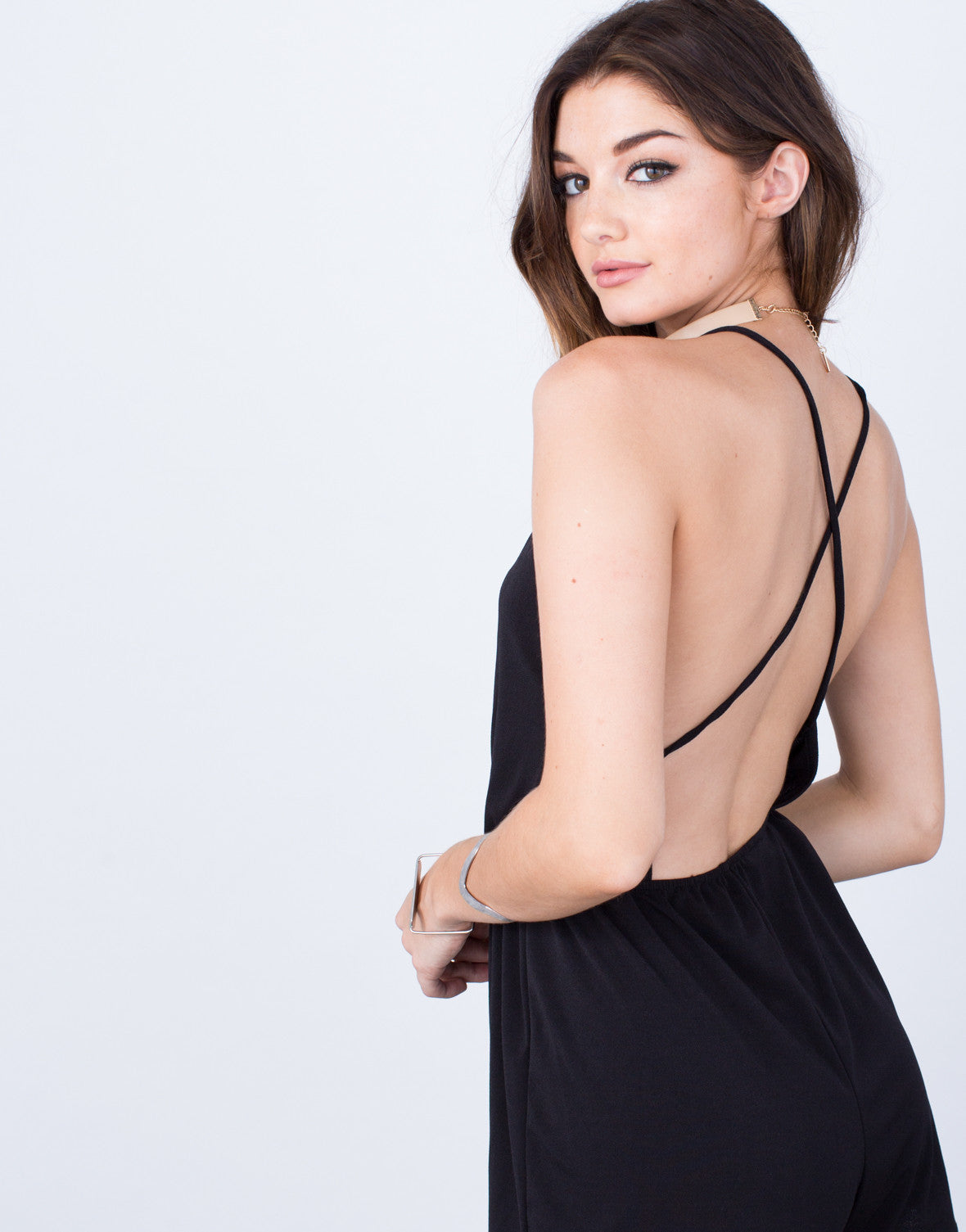 Detail of Strappy Cross Back Romper