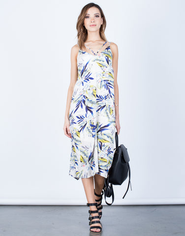 Front View of Strappy Floral Vacay Dress