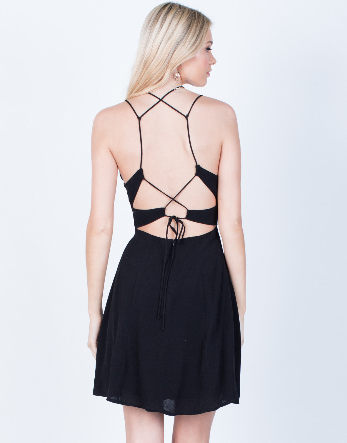 Back View of Strappy Front Flowy Dress