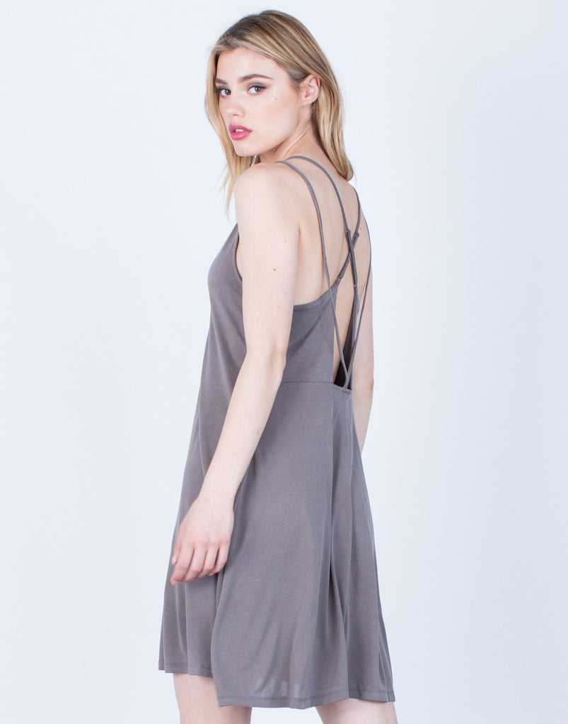 Back View of Strappy Knit Dress