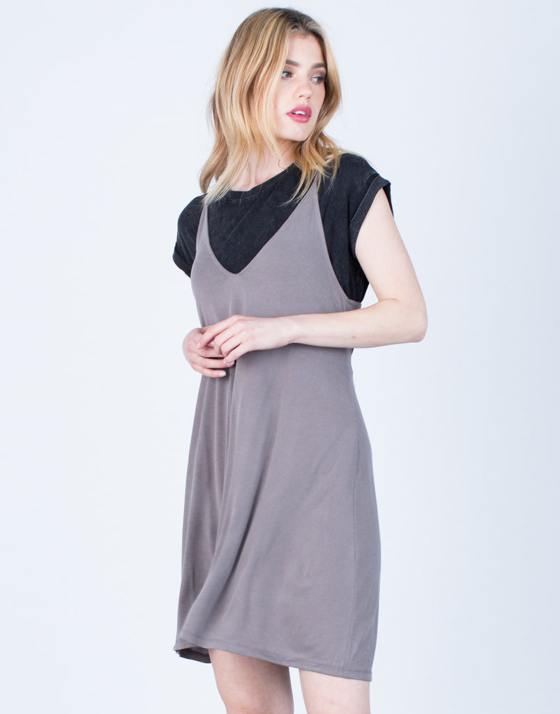 Front View of Strappy Knit Dress