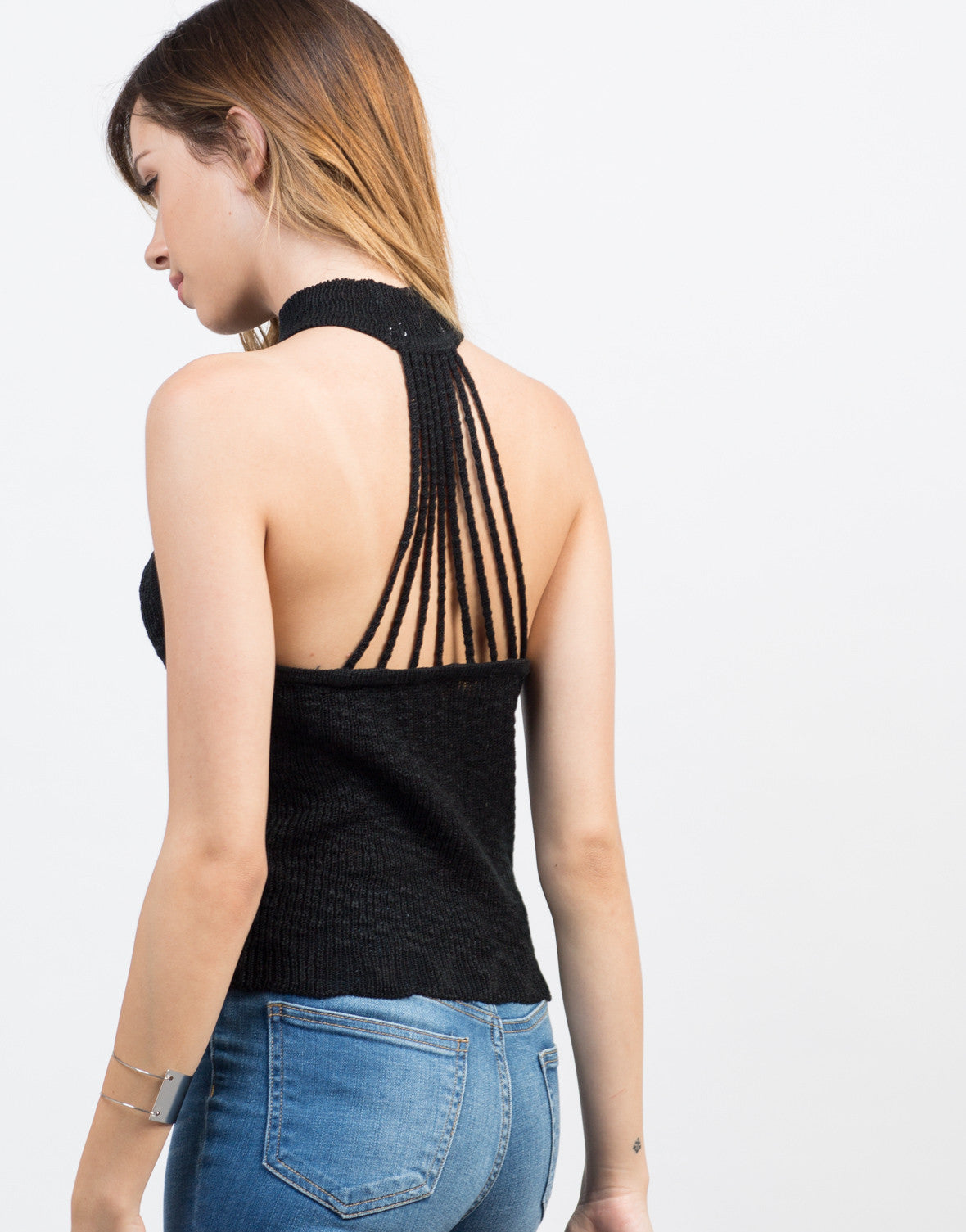 Detail of Strappy Knitted Tank