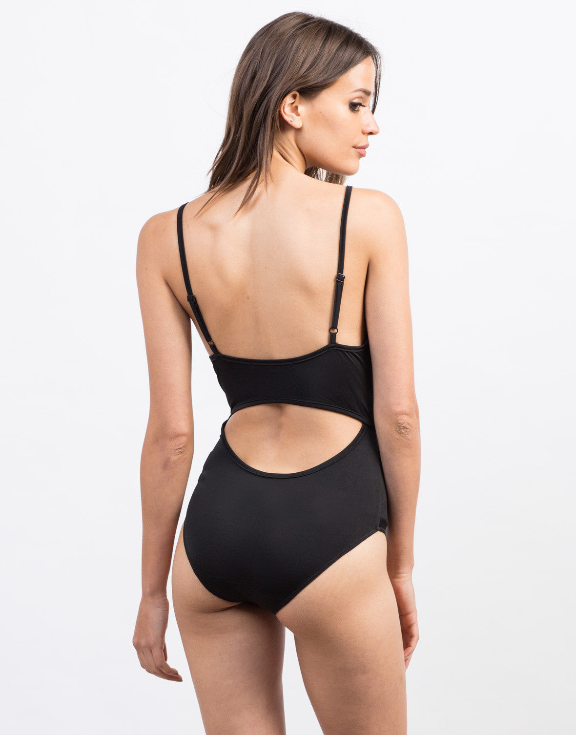 Back  View of Strappy Lace-Up Bodysuit